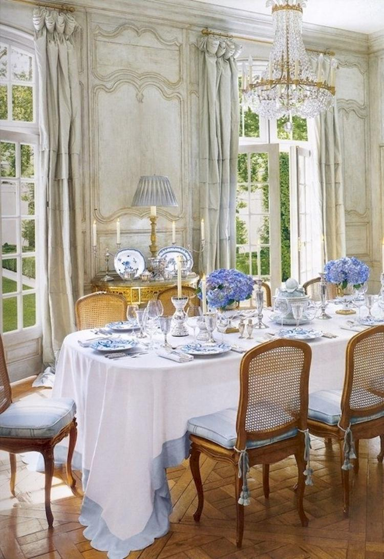 50 Modern French Country Dining Room Table Decor Inspirations