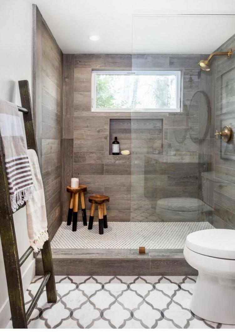 40 Rustic Farmhouse Master Bathroom Remodel Ideas on Farmhouse Bathroom Remodel Ideas  id=37939