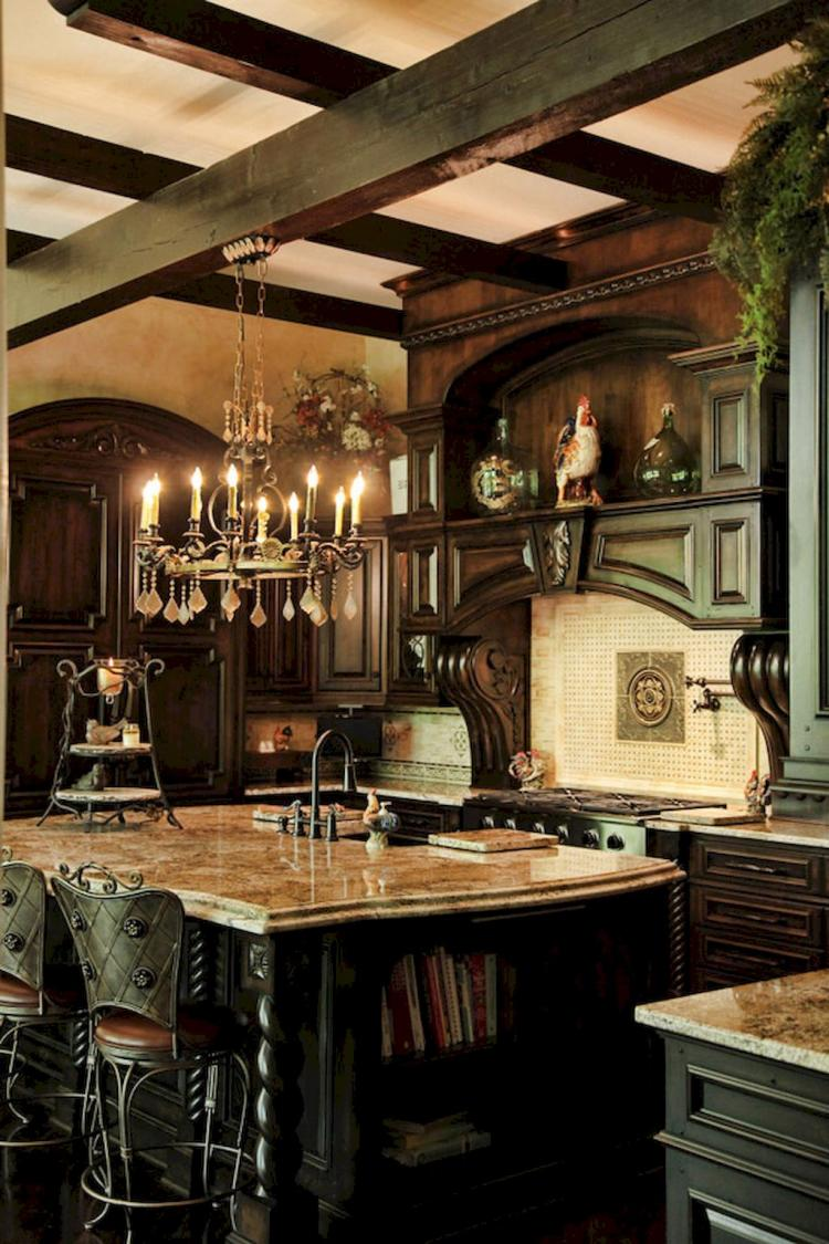 75 Modern French Country Kitchen Decorating Ideas on Farmhouse:-Xjylc6A2Ec= Rustic Kitchen  id=65323