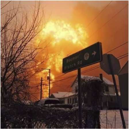 The Mt. Carbon, WV oil train explosion was massive. February 16, 2015.