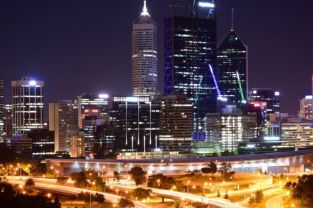Night view of Perth CBD from Kings Park