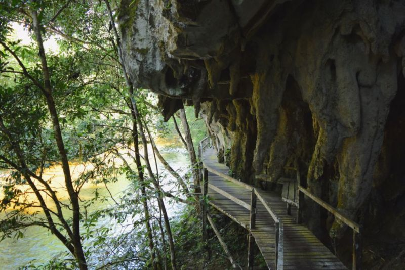 Wooden pathway to Clearwater Cave @2015