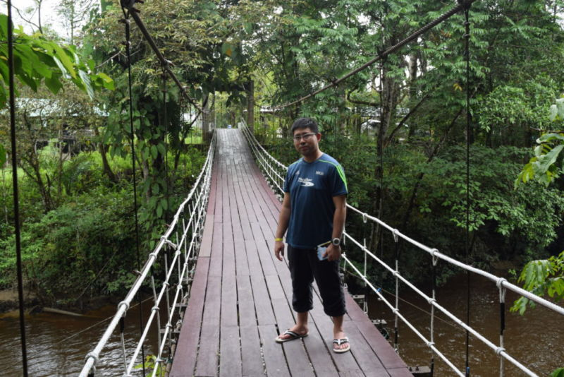 Bridge leading to Mulu National Park @2015