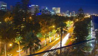 Night view of Perth CBD from Swan Bells