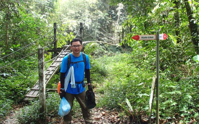 1km mark of trail to Camp 5 @2015