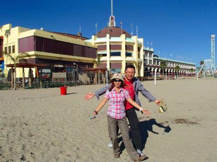 Santa Cruz Boardwalk area, California