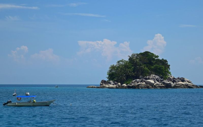 Rock outcrop at Salang, Tioman