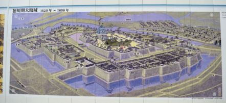 Layout of Osaka Castle from 1620-1868