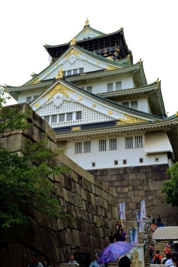 Osaka Castle Main Tower (viewed from ticket booth)