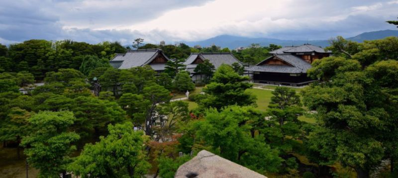 Former castle keep overlooking Honmaru Palace, Nijo Castle @2015