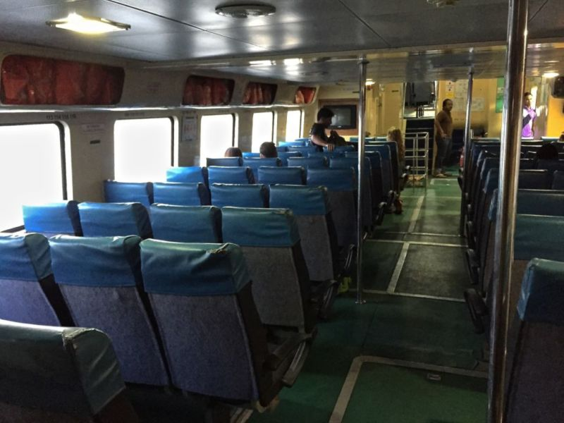 Main deck of ferry to Tioman