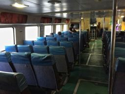 Main deck of ferry to Tioman