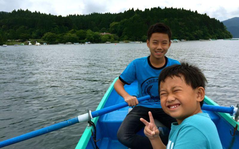 Boating on Lake Ashi