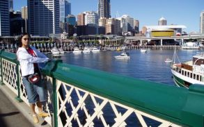 Darling Harbour from Pyrmont Bridge, Sydney