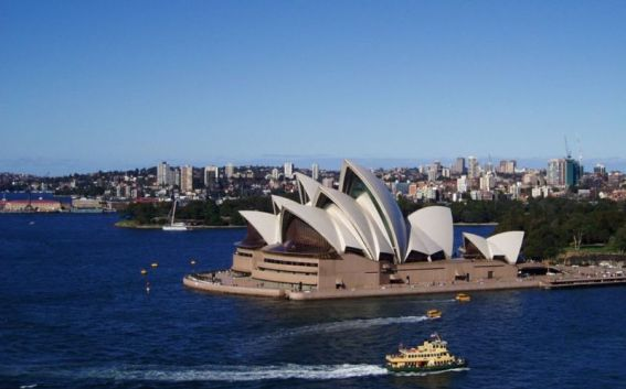 Opera House viewed from Harbour Bridge