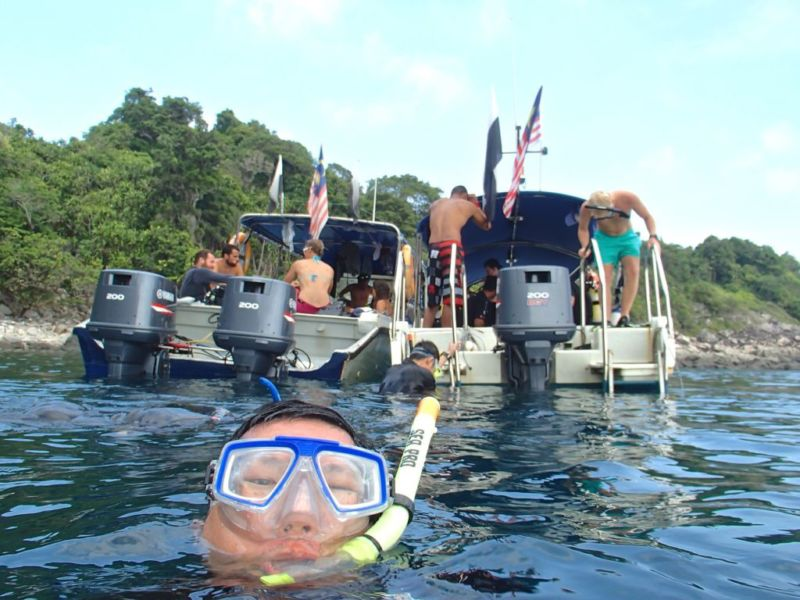 Snorkelling selfie, Tioman