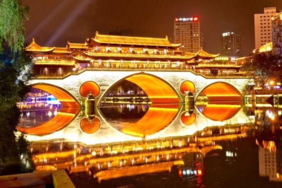 Anshun Bridge, Chengdu, Sichuan, China @2015