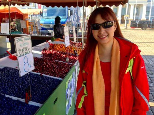 Fruits stall at The Market Square (Kauppatori), Helsinki, Finland