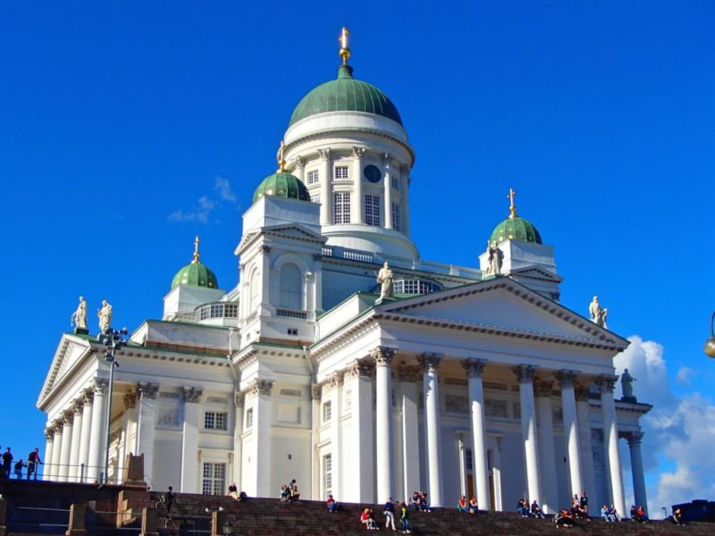Helsinki Cathedral. Probably Finland's most famous and photographed building. Helsinki, Finland.