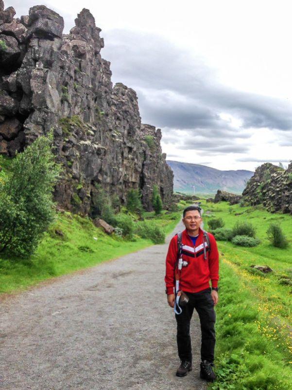 Fault lines at Thingvellir National Park, Iceland