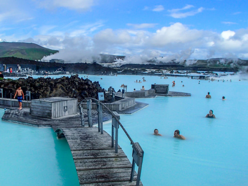 Area for paying patrons, Blue Lagoon, Iceland