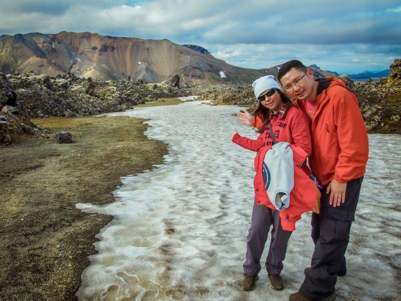 Hiking at Landmannalaugar: 2-hour hike to Mt. Brennisteinsalda.