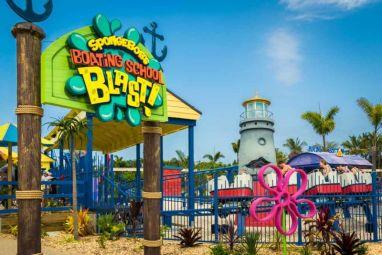 SpongeBob SquarePants mini rollercoaster ride