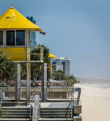 Surfers Paradise. A visit to this pristine beachfront is a must for every visitor to Gold Coast