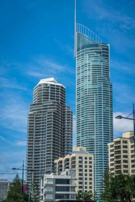 In the heart of Surfers Paradise, Q1 is the tallest building on the Gold Coast and Australia. SkyPoint, its observation deck is at levels 77 & 78.