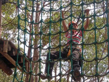 Rope obstacle.