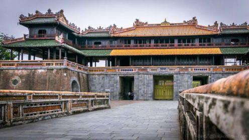 Ngo Mon Gate of Hue Imperial City. Vietnam.