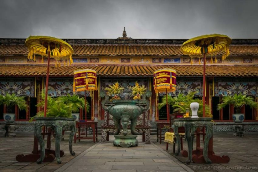The To Mieu (The Mieu Temple). Honoring the Nyugen Dynasty Emperors. Hue Imperial City, Vietnam.