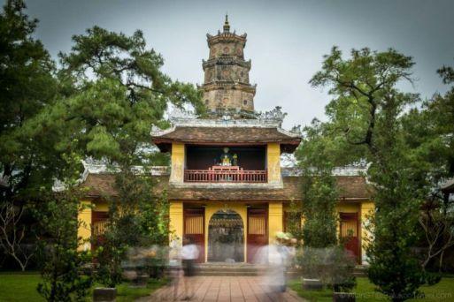 "Gate of Thien Mu Pagoda. ""Thien Mu"" literally translate to ""Heavenly Lady""."