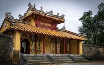 Minh Mang's Tomb. Located on the west bank of Perfume River, approximately 13km from Hue Citadel. (Hue, Central Vietnam)