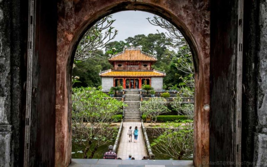 Minh Mang's Tomb. Widely recognized as the most grandiose of all Nguyễn era royal tombs. (Hue, Central Vietnam)
