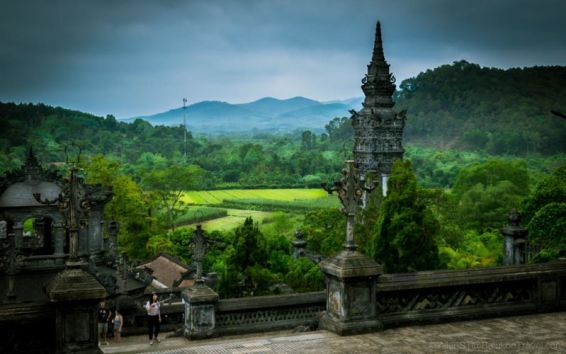 Khai Dinh's Tomb: located on the slopes of the steep Chau Chu Mountain. (Hue, Central Vietnam)