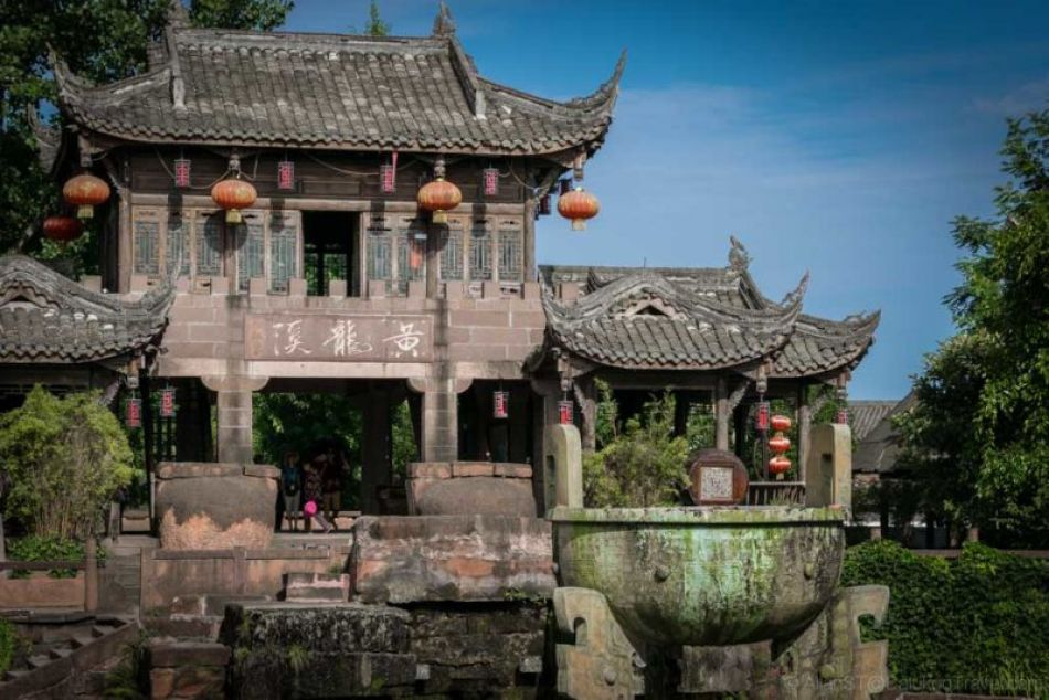 HuangLongXi Ancient Town. One of the Top Ten ancient towns in China. (Chengdu, Sichuan Province, China)