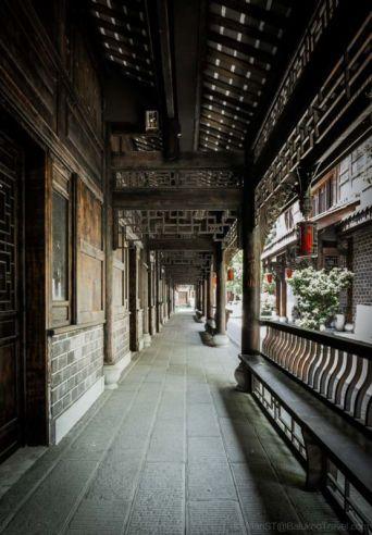 Old corridor. HuangLongXi Ancient town (Chengdu, China)