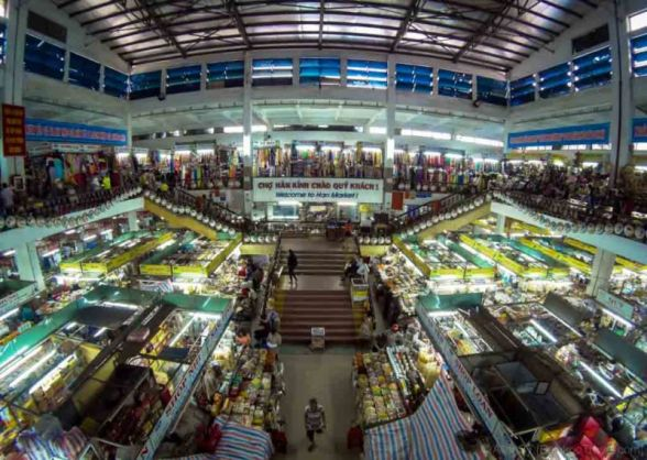 Han Market is one of the biggest indoor market in Da Nang city. Named after the Han River beside it. (Vietnam)