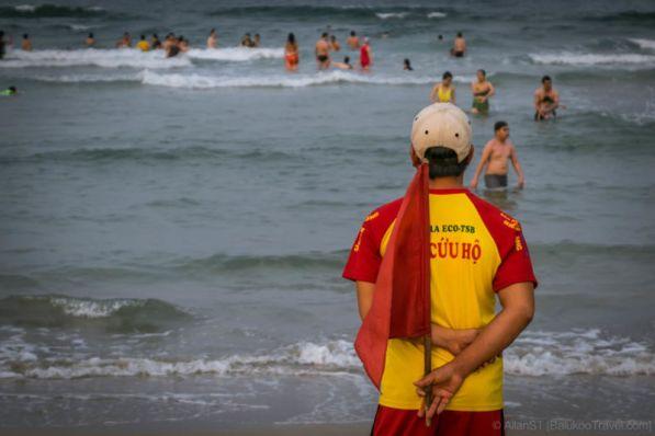 Keeping the beach goers safe. My Khe Beach. (Da Nang, Vietnam)