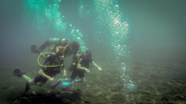 Marine life isn't the only interesting thing when underwater.