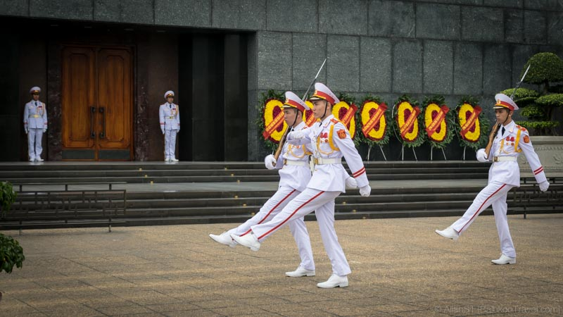 Change of guards ceremony at Ho Chi Minh Mausoleum (Vietnam)
