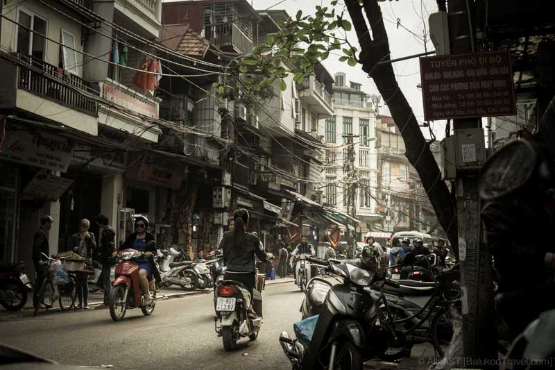 Sights around Hanoi city (Vietnam)