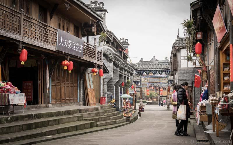 The rebuilt ShuiMoZhen (水磨镇) (Sichuan, China) (Mar-2017)