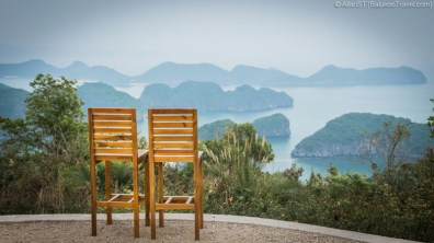 Views of Lan Ha Bay from Cannon Fort's cafe (Cat Ba Island, Vietnam)