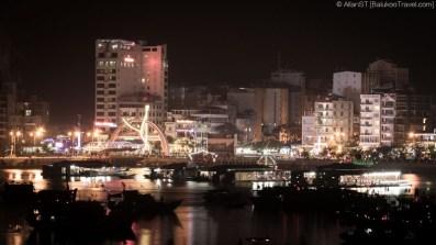 Night view of Cat Ba town (Vietnam)