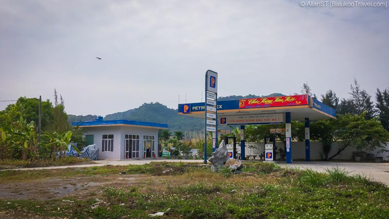 The largest gas station on Cat Ba Island (Vietnam)