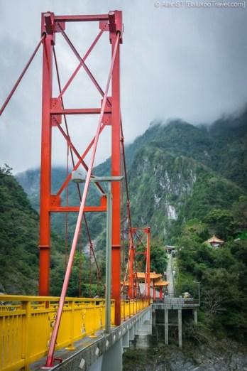 Pudu Bridge leading to Xiangde Temple (祥德寺), Tianxiang, Taroko Gorge (Hualien, Taiwan) @2016