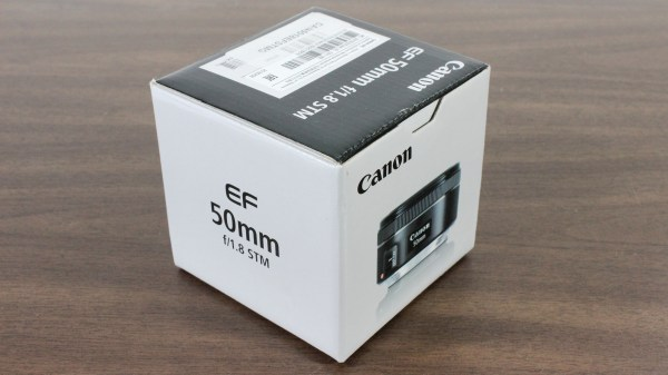 Used Canon EF 50mm 1:1.8 STM Lens Box