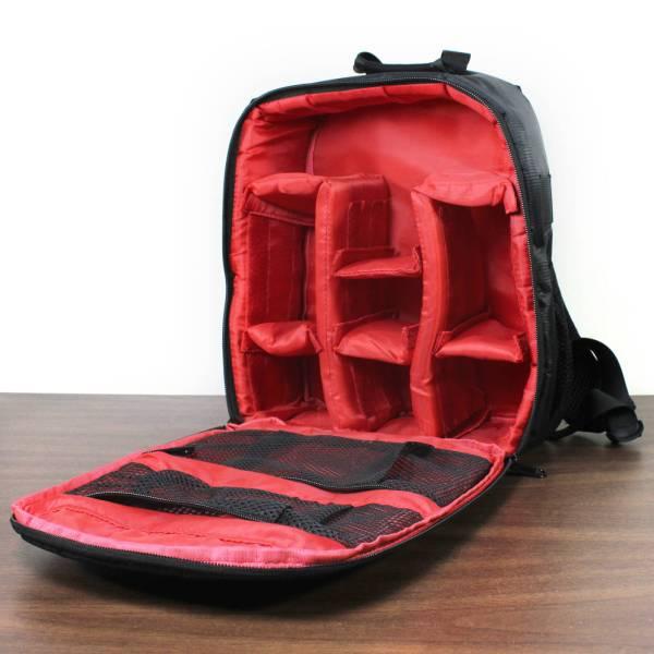 Small Indepman Camera Backpack Bag inside